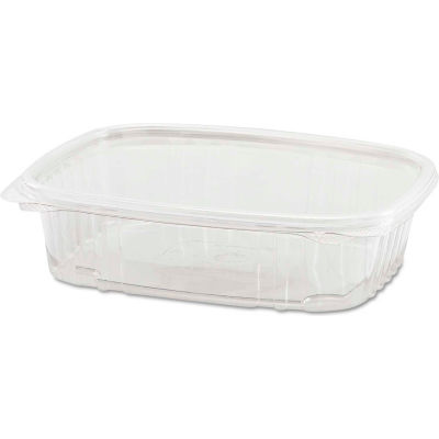 """Hinged Lid Plastic Containers 6-2/5"""" x 7-1/4"""" x 2-1/4"""" 24 Oz - 200 Pack"""
