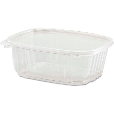 "Hinged Lid Plastic Containers 6-2/5"" x 7-1/4"" x 2-5/8"" 32 Oz - 200 Pack"