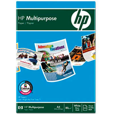 "Multipurpose Paper - HP 112000CT - 8-1/2"" x 11"" - 96 Bright - 20lb - White - 5000 Sheets/Carton"