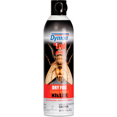 Dymon® The End Dry Fog Flying Insect Killer, 20 oz. Aerosol Fogger, 12 Cans - ITW45120