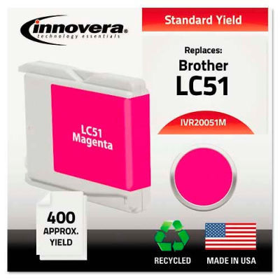 Innovera® 20051M Compatible, Remanufactured, LC51M Ink, 400 Page-Yield, Magenta