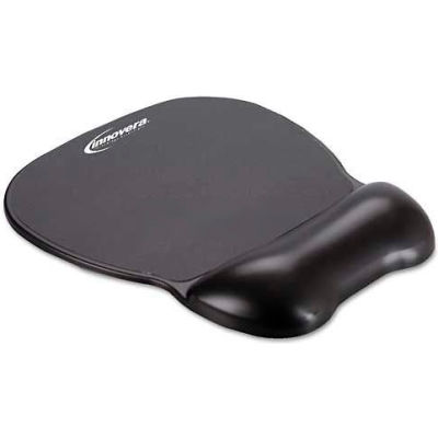 Innovera® IVR51450 Gel Mouse Pad with Wrist Rest, Non-Skid Base, Black