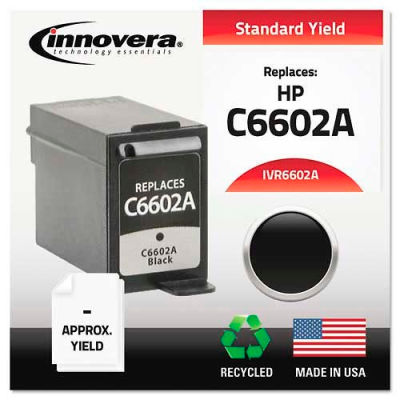 Innovera® 6602A Compatible, Remanufactured, C6602A Ink, 500 Page-Yield, Black