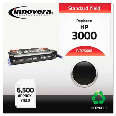Innovera® 7560A Compatible, Remanufactured, Q7560A (314A) Laser Toner, 6500 Yield, Black