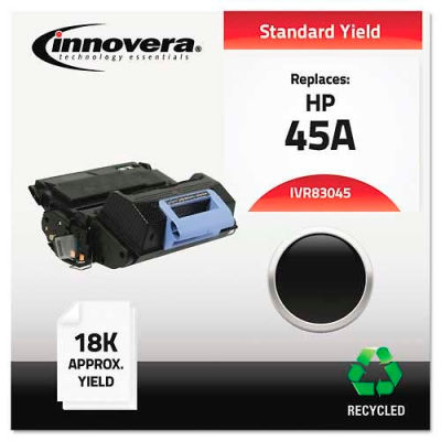 Innovera® 83045 Compatible, Remanufactured, Q5945A (45A) Laser Toner, 18000 Yield, Black