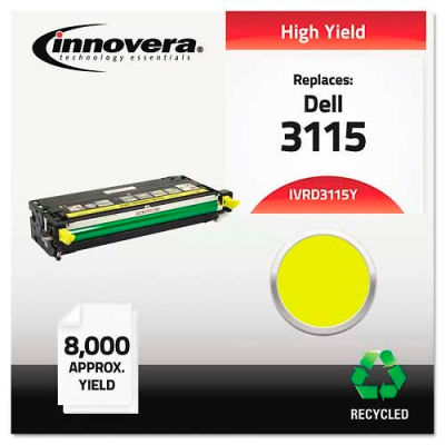 Innovera® D3115Y High-Yield Toner Cartridge, 8000 Page Yield, Yellow