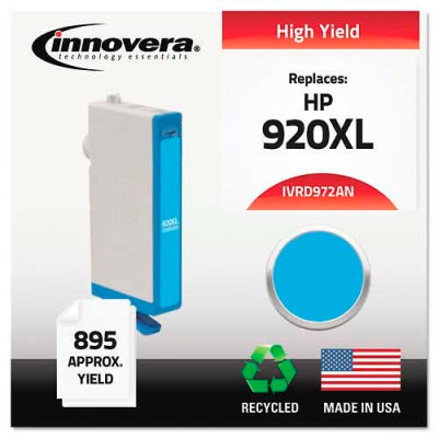 Innovera® D972AN Compatible, Remanufactured, CD972AN (920XL) Ink, 700 Page-Yield, Cyan