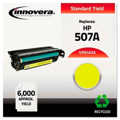 Innovera® Compatible Remanufactured CE402A (M551) Toner, 6000 Page-Yield, Yellow