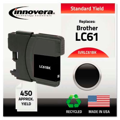 Innovera® LC61BK Compatible, Remanufactured, LC61BK Ink, 450 Page-Yield, Black