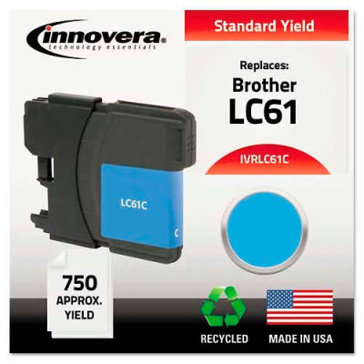 Innovera® LC61C Compatible, Remanufactured, LC61C Ink, 325 Page-Yield, Cyan