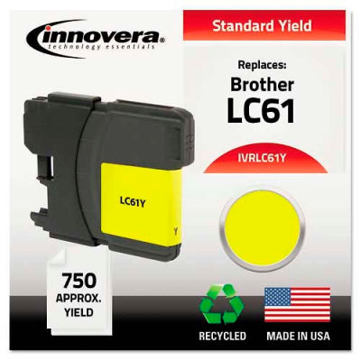 Innovera® LC61Y Compatible, Remanufactured, LC61Y Ink, 325 Page-Yield, Yellow