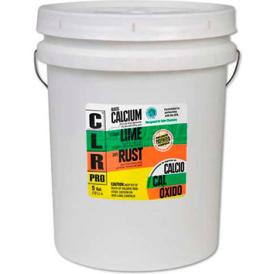CLR Calcium, Lime And Rust Remover, 5 Gallon Pail - JELCL5PRO