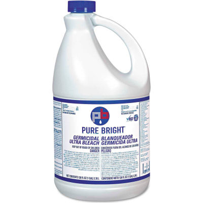 Pure Bright® Liquid Bleach, 1 Gallon Bottle, 6 Bottles/Case - BLCH6