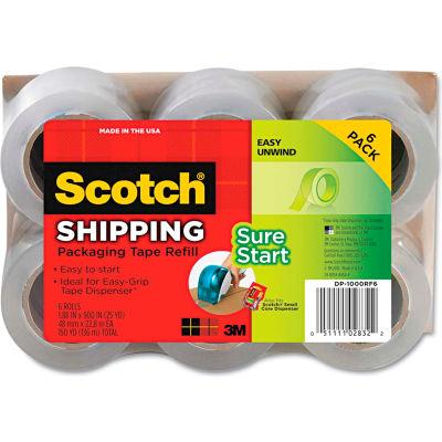 "Scotch® Refill Rolls for DP-1000 Easy Grip Tape Dispenser, 1.88"" x 25yds, 6/Pack"