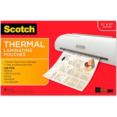 Scotch® Menu Size Thermal Laminating Pouches, 3 mil, 17 1/2 x 11 1/2, 25 per Pack