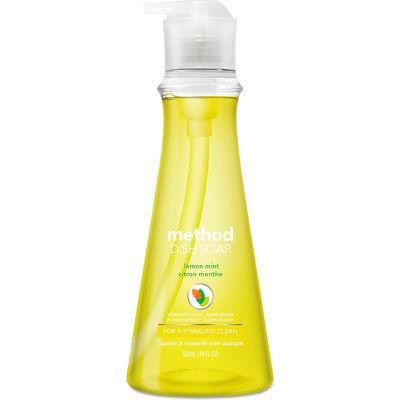 Method Manual Dish Detergent Liquid, Lemon Mint, 18 oz. Bottle - 01179