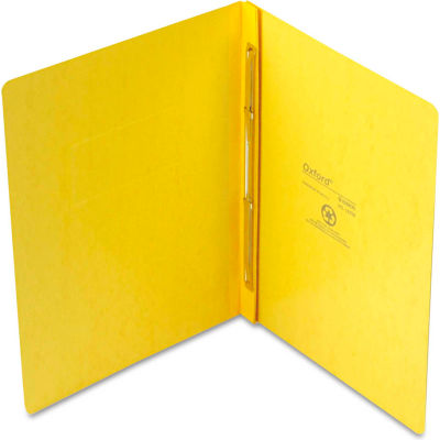 """Oxford® PressGuard Report Cover, Prong Clip, Letter, 3"""" Capacity, Yellow"""