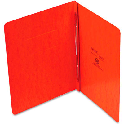 "Oxford® PressGuard Report Cover, Prong Clip, Letter, 3"" Capacity, Tangerine"