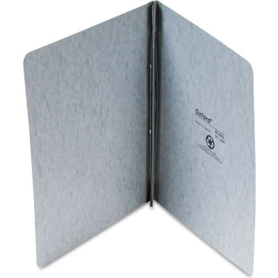 """Oxford® Pressboard Report Cover, 2 Prong Fastener, Letter, 3"""" Capacity, Gray"""