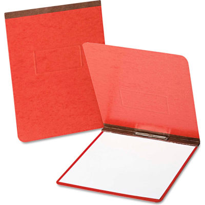 "Oxford® PressGuard Coated Report Cover, Prong Clip, Letter, 2"" Capacity, Red"