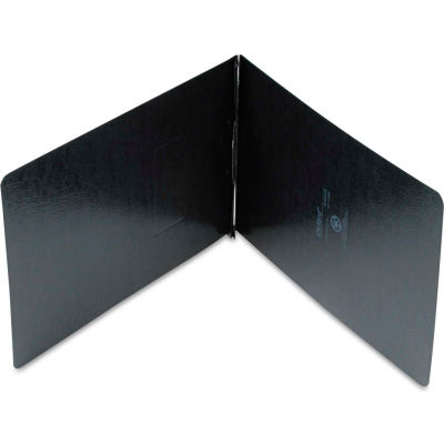 """Oxford® PressGuard Coated Report Cover, Prong Clip, Legal, 2"""" Capacity, Black"""