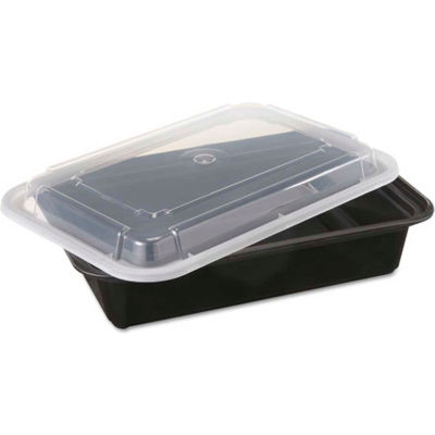 """VERSAtainer Microwavable Containers, 38 oz., 6"""" x 8-1/2"""" x 2"""" - 150 Pack"""