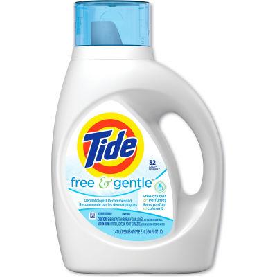 Tide Free & Gentle 2X Ultra Laundry Detergent Liquid, 50 oz. Bottle, 4 Bottles - 13885
