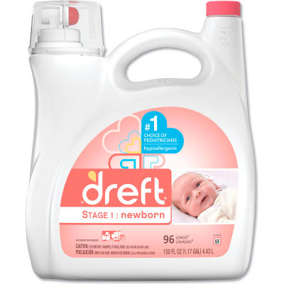 Dreft Ultra Laundry Detergent Liquid, 150 oz. Bottle, 4 Bottles - 80377