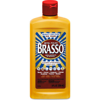 BRASSO Metal Surface Polish, 8 oz. Bottle, 8 Bottles - 89334