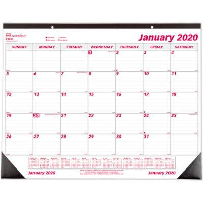 Brownline® Desk Pad Calendar, Chipboard, 22 x 17, 2020