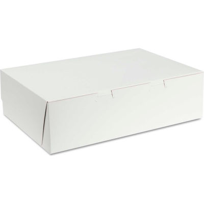 """Bakery Boxes 14"""" x 10"""" x 4"""" White - 100 Pack"""