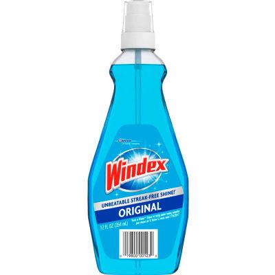 Windex Glass Cleaner with Ammonia-D, 12 oz. Pump Spray Bottle, 12 Bottles - 060123