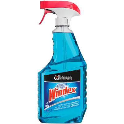 Windex Glass Cleaner with Ammonia-D, 32 oz. Bottle, 12 Bottles - 695155