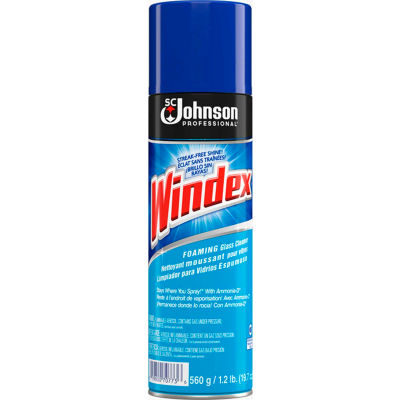Windex Glass Cleaner with Ammonia-D, 20 oz. Aerosol Can, 12 Cans - 696501