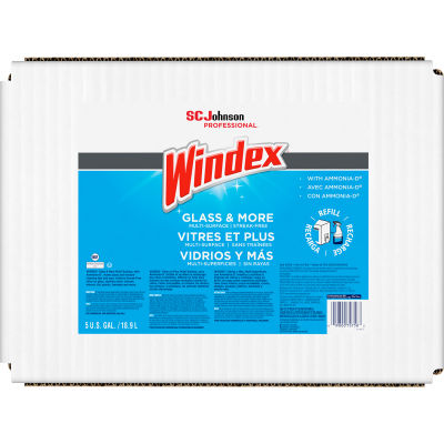 Windex Glass Cleaner with Ammonia-D, 5 Gallon Box - 696502