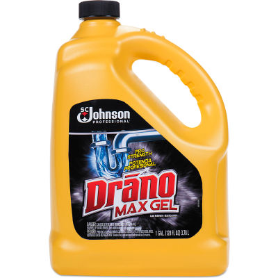 Drano® Max Gel Clog Remover, Gallon Bottle, 4 Bottles - 696642