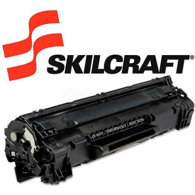 SKILCRAFT® Compatible Remanufactured CE285A (85A) Toner,1600 Page-Yield, Black