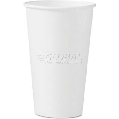SOLO® Polycoated Hot Paper Cups, 16 oz, White