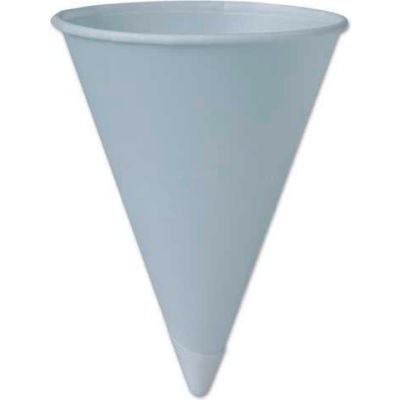 SOLO® Bare Treated Paper Cone Water Cups, 6 oz, WH, 200/Sleeve, 25 Sleeves/Carton