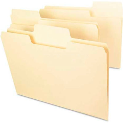 Smead® SuperTab File Folders, 1/3 Cut Top Tab, Letter, Manila, 100/Box