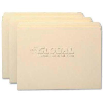 Smead® File Folders, Straight Cut, Reinforced Top Tab, Letter, Manila, 100/Box
