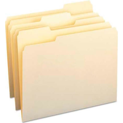 Smead® File Folders, 1/3 Cut Assorted, One-Ply Top Tab, Letter, Manila, 100/Box