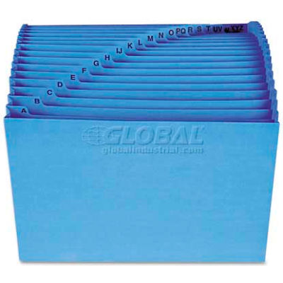 Smead® Antimicrobial A-Z Accordion Expanding File, 21 Pockets, Letter, Blue