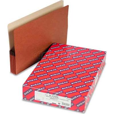 """Smead® 3-1/2"""" Accordion Expansion File Pockets, 1/3 Tab, Lgl, Manila/Redrope, 10/Box"""