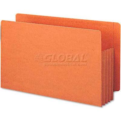 "Smead® 3-1/2"" Accordion Expansion File TUFF Pockets, Straight, Legal, Redrope, 10/Box"
