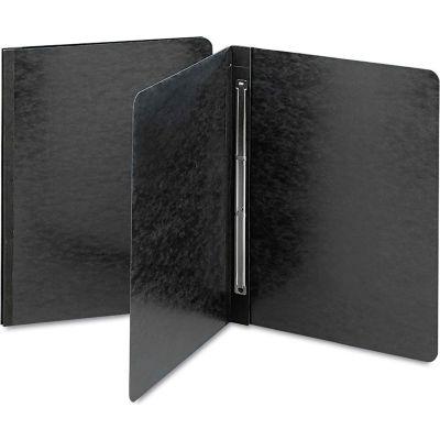 Smead® Side Opening Pressboard Report Cover, Prong Fastener, Letter, Black