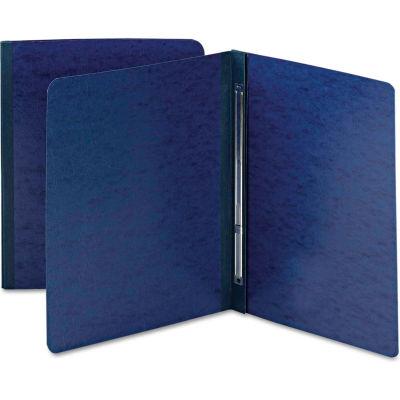 Smead® Side Opening Pressboard Report Cover, Prong Fastener, Letter, Dark Blue
