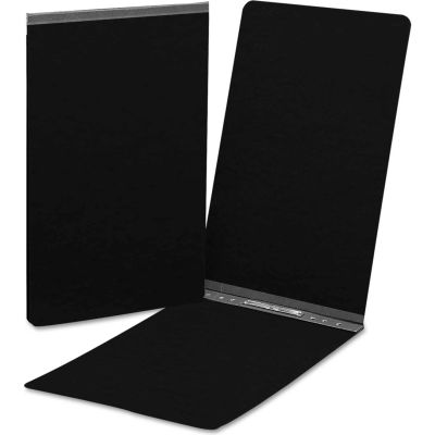 Smead® End Opening Pressboard Report Cover, Prong Fastener, Legal, Black