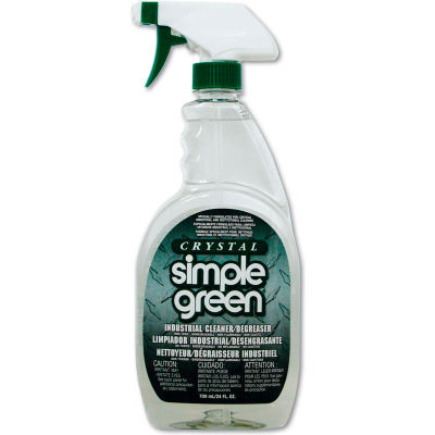 Crystal Simple Green® Industrial Cleaner and Degreaser, 24oz. Bottle, 12 Bottles - 19024