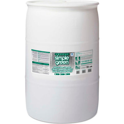 Crystal Simple Green® Industrial Cleaner and Degreaser, 55 Gallon Drum - 19055